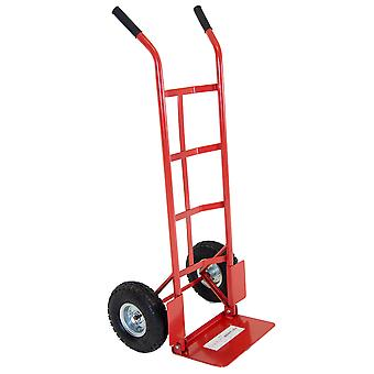 200kg Sack Truck Heavy Duty Foldable Toe Plate Hand Trolley FREE DELIVERY