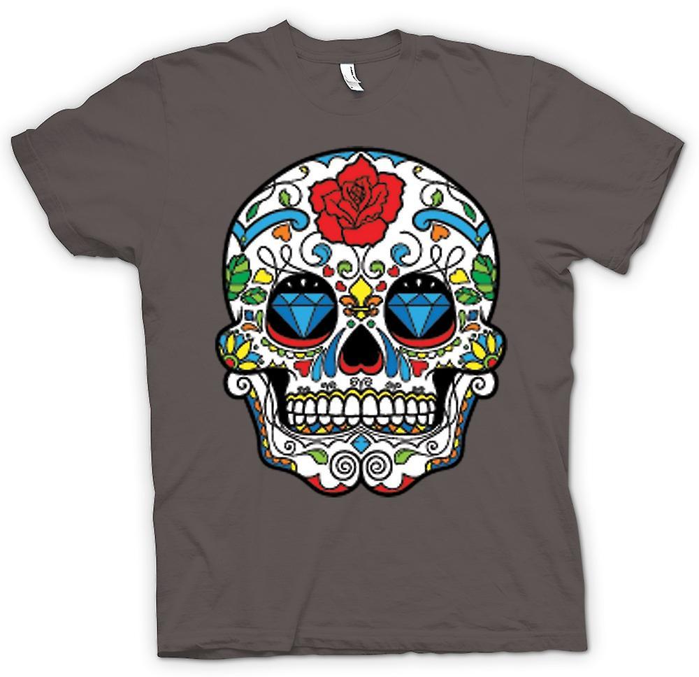 Mens t-skjorte - meksikanske sukker Skull - Dia De Los Muertos