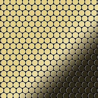 Mosaico de metal sólido Latón ALLOY Penny-BM