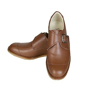 Boys Buckle Oxford Brown Shoes by Sebastian Le Blanc