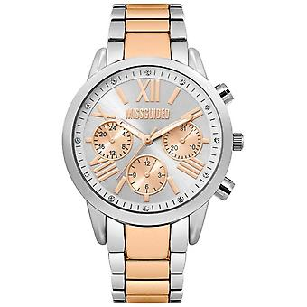 Missguided | Ladies Two Tone | Silver And Rose Gold Bracelet | MG008SRM Watch