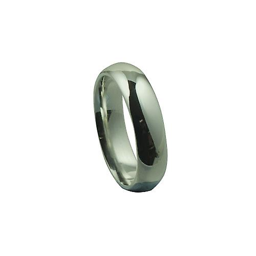 Platinum 6mm plain Court wedding ring