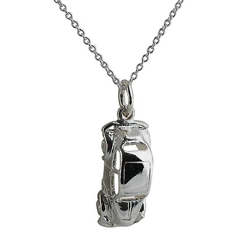 Silver 20x8mm Vintage Car Pendant with a rolo Chain 16 inches Only Suitable for Children