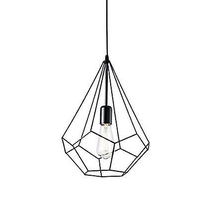 Ideal Lux - Ampolla-3 Matt noir Cage Style pendentif IDL148175