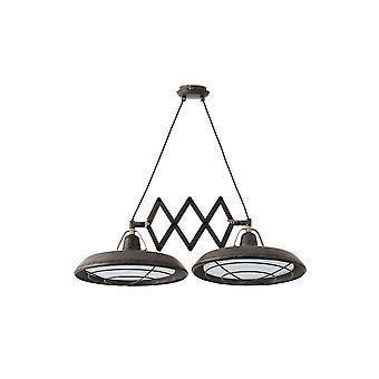Faro - Plec Old Brown Indoor / Outdoor Double Adjustable LED Pendant FARO66214