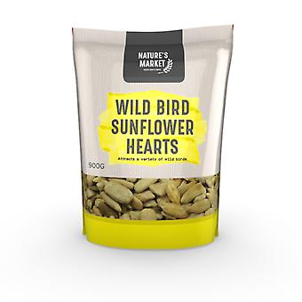 Natures Market 0.9kg (2 lbs) Bag of High Energy Sunflower Hearts Feed Wild Bird Food