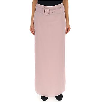 Prada Pink Silk Skirt