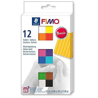 Fimo Fimo modelleren Clay basiskleuren 12 Pack