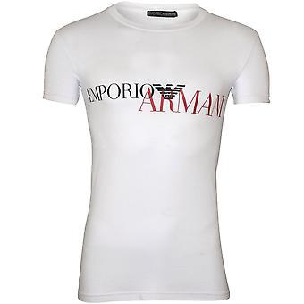 Emporio Armani mega logo T-shirt, branco