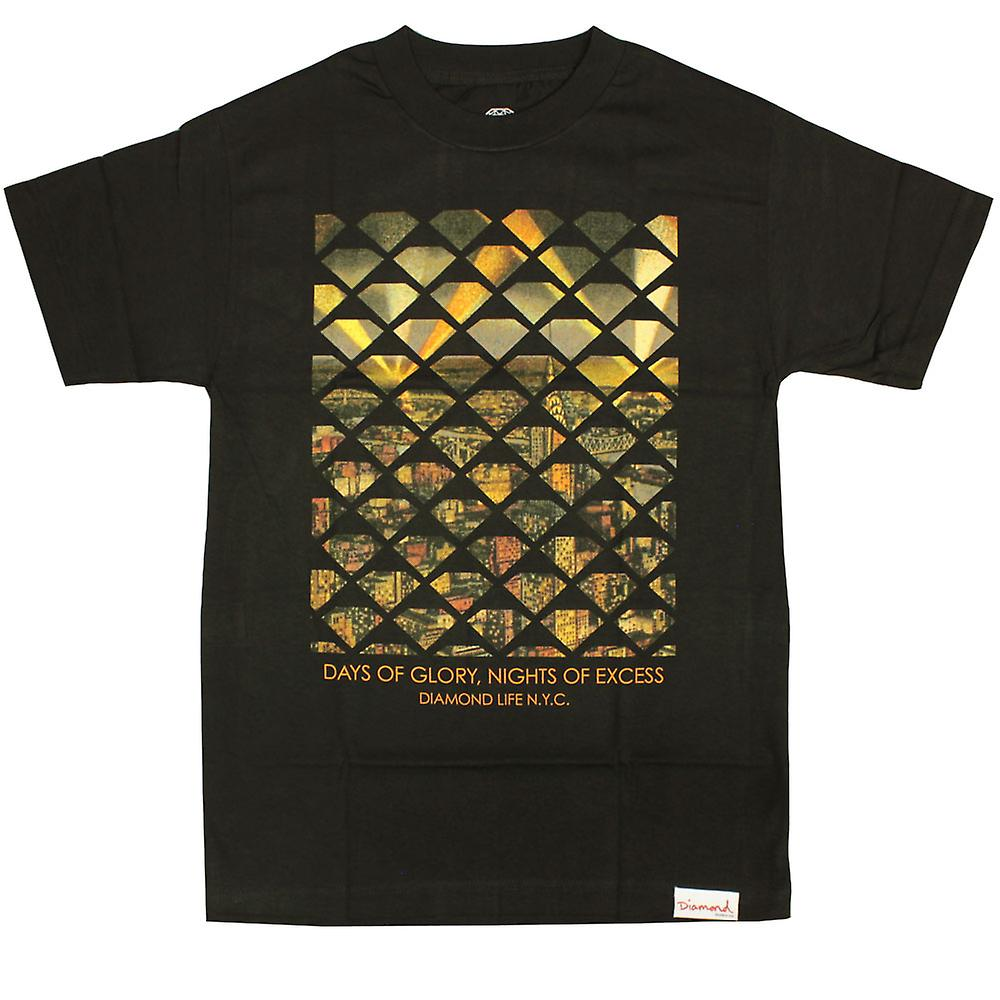 Diamant levering Co NYC overmaat T-shirt zwart