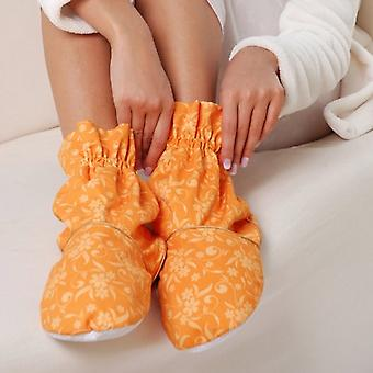 Cotton Floral Scented Heatable Feet Warmers: Apricot