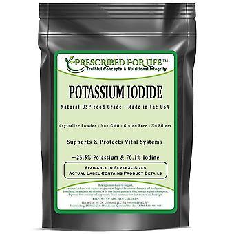 Potassium Iodide - Pure USP Powder - Averages 24% K / 76% I