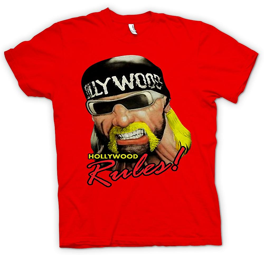 Mens T-shirt - Hulk Hogan - Hollywood Regeln