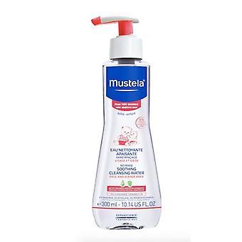 Mustela no spoelen kalmerende reinigings water 300ml (rood)