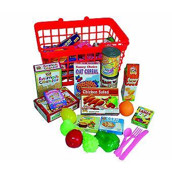 Lebensmittel-Korb mit Essen spielen