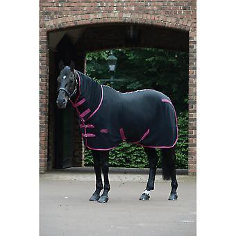 Weatherbeeta Fleece Cooler Combo Neck Rug - Black/boysenberry