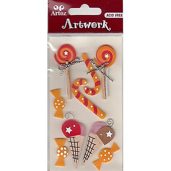 Assorted Sweets And Candies Craft Embellishment By Artoz
