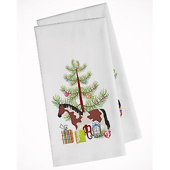 Pinto Horse Christmas White Kitchen Towel Set of 2