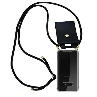 Cadorabo Phone Chain Case for Samsung Galaxy S10e Case Cover - Necklace Silicone Shoulder Case with Cord Ribbon Cord and Removable Case Case Cover Case Cover
