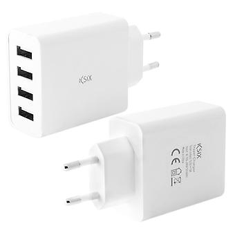 Wall charger 4 USB 4.5 has white