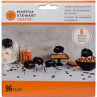 Spider Pom-Pom Kit Makes 6-Spooky Night M4820414