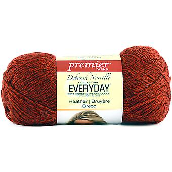 Deborah Norville Everyday Soft Worsted Heather Yarn-Red  DN110-1