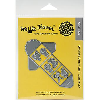 Waffle Flower Die-Mini Trifold Notes WF310049