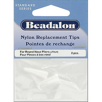 Nylon Round Nost Pliers Replacement Tips 2 Pkg .75