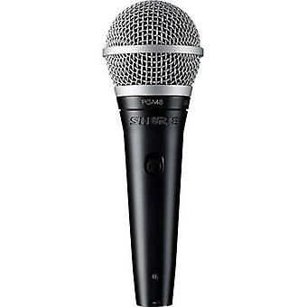 Speech microphone Shure PGA48-QTR-E Transfer type:Corded incl. cable, incl. clip, Steel enclosure, Switch