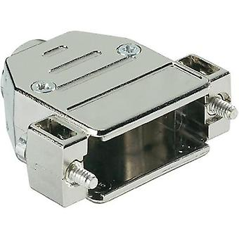 D-SUB housing Number of pins: 9 Plastic, metallised 180 ° Silver