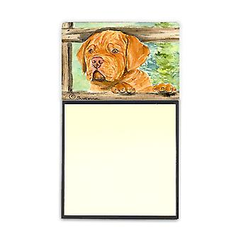 Dogue de Bordeaux Refiillable Sticky Note Holder or Postit Note Dispenser SS8926SN