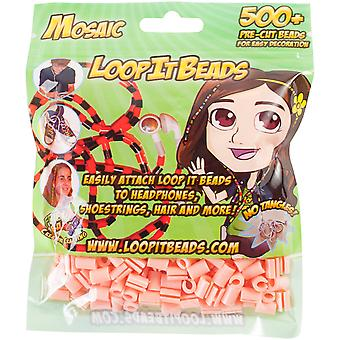 Friendly Bands Loop It Beads 500/Pkg-Cantaloupe FBLIB500-CAN