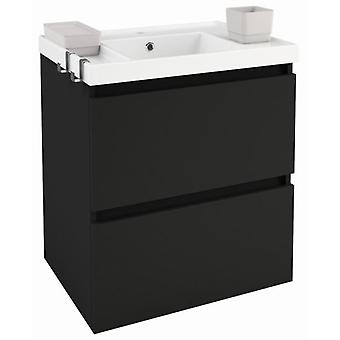 Bath+ Sink cabinet 2 drawers Gloss Anthracite 60CM