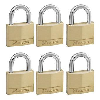 Masterlock 6 x 40mm brass padlock Ka (DIY , Hardware)