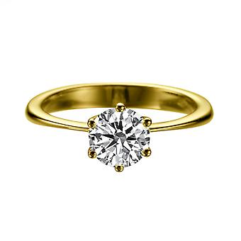 1.2 Carat E VS2 Diamond Engagement Ring 14K Yellow Gold Solitaire Classic Round