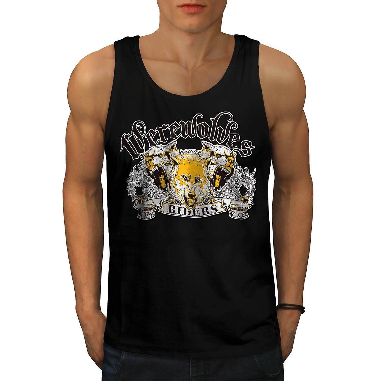 Werewolves Riders Biker Wolf Fur Men Black Tank Top | Wellcoda