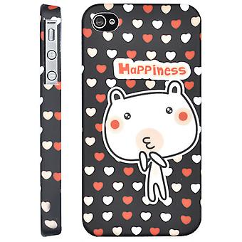 Cover Happy Pig, cartton in hard plastic, for iPhone 4/4s