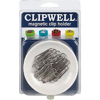 CLIPWELL Magnetic Clip Holder-White CW-WH