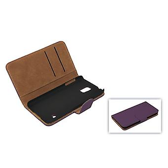 Cover cell phone case (flip cross) for mobile Apple iPhone 6 purple / violet