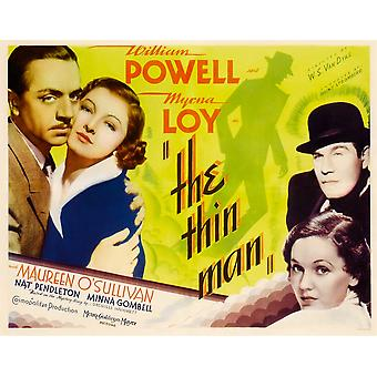 The Thin Man From Left William Powell Myrna Loy Right From Top Nat Pendleton Maureen OSullivan 1934 Movie Poster Masterprint