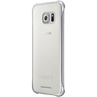 Original Samsung EF-QG920BBE clear transparent cover for Galaxy S6 silver