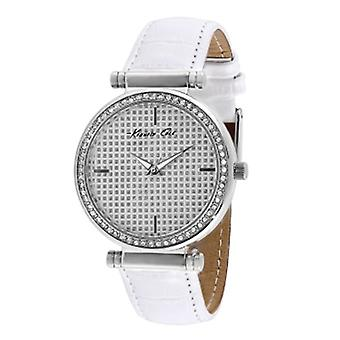 Kenneth Cole Crystal Dial and Bezel White Band Women's Watch KCW2004