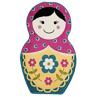 Piger Pink & gule Russisk dukke soveværelse tæppe