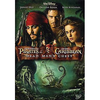 Pirater Caribbean död Mans Kista [DVD] USA import