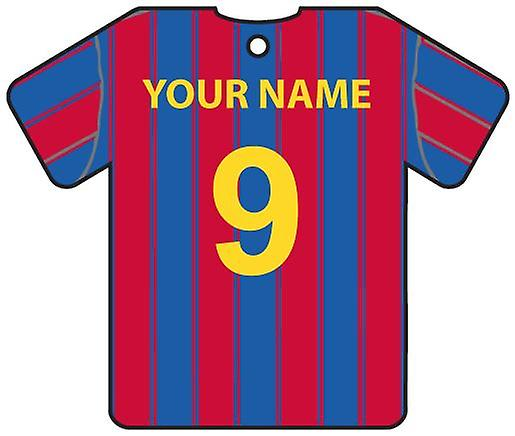 Personalised Barcelona Football Shirt Car Air Freshener