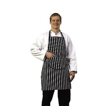 Zodiac Butchers Blue Stripe Bib Apron with Pocket