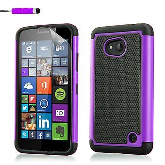 Shock proof case for Microsoft Lumia 640 + stylus - Purple