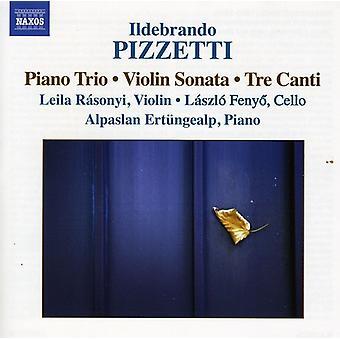 I. Pizzetti - Ildebrando Pizzetti: Piano Trio; Sonate for fiolin; Tre Canti [DVD] USA importere