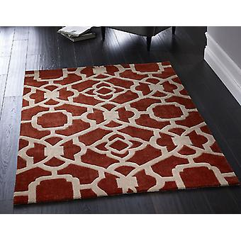 Marrakesh Terracotta  Rectangle Rugs Modern Rugs