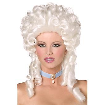 Barocco parrucca bianca Marie Antoinette d'arricciatura parrucca